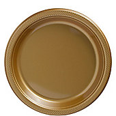 Gold Plates - 23cm Plastic Party Plates - 20 Pack