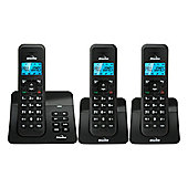 BINATONE-LUNA1120S-TRIO Three Cordless Phones with Answer Machine in Black