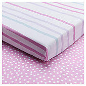Tesco ABC Toddler Bed Sheets, 2pk