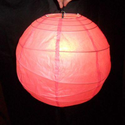 Loxton Lighting Irregular Bamboo Paper Lantern - Fuchsia