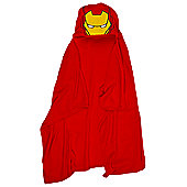 Iron Man Boys One Size Red Cuddle Robe