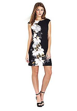 Wallis Petite Black Floral Tunic Dress - Black