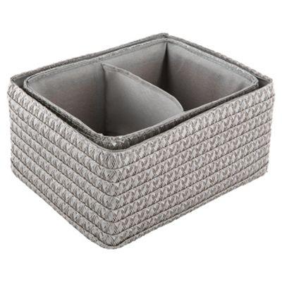 Tesco Woven Storage Baskets Grey Set of Two. Buy Tesco Woven Storage Baskets Grey Set of Two from our Storage