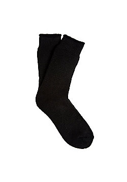 F&F Brushed Fleece Lined Thermal Socks - Black