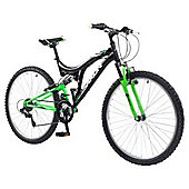 "Saxon Drift 26"" Wheel Dual Suspension Bike 18"" Frame Black"