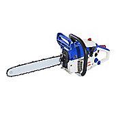 "Homcom 16"" Cutting Bar Petrol Engine Chainsaw Machine Powered Autotune Blue (39cc / 1200W)"