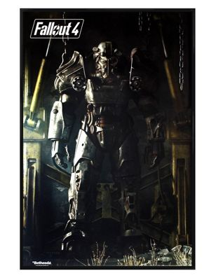Fallout 4 Gloss Black Framed Power Armour Poster