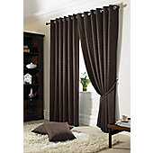 Alan Symonds Madison Chocolate Eyelet Curtains - 66x90 Inches (168x229cm)
