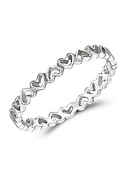 Jo For Girls Tiny Hearts Silver Ring (Size I)