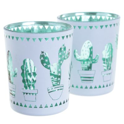 Puckator Tealight Holder Cactus Silhouette, Set of 2