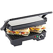 VonShef 2 in 1 - 2 Slice Panini Sandwich Press & Grill - 1500W