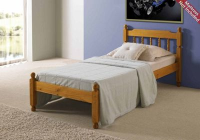 Amani Colonial Spindle Honey Pine Bed Frame Small Double - No Drawers