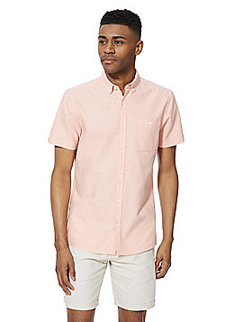 F&F Spotty Short Sleeve Oxford Shirt - Coral