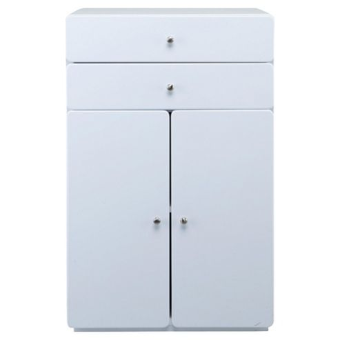 Stockholm White Gloss Double Door Unit
