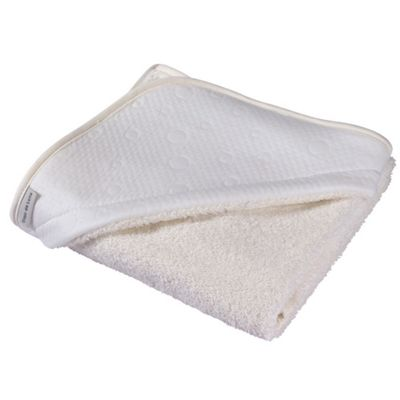 Clair de Lune Luxury Hooded Towel (Cotton Candy Ivory White)