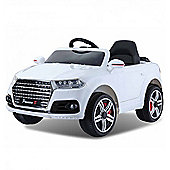 Audi Q7 Style Ride on Car 12v White with Parental Remote Control