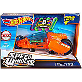Hot Wheels Speed Winders Twisted Cycle Vehicle Orange & Blue DPB68