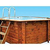 Plastica Corner Wooden Pool 3.3 x 3.3 x 3.6m Richmond