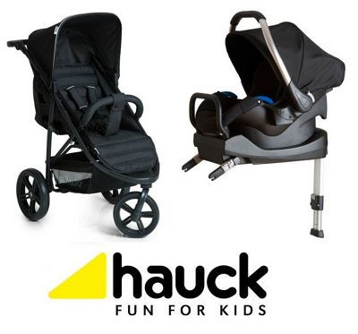 Hauck Rapid 3 Isofix Travel System/Soft Carrycot - Caviar/Black
