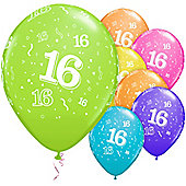 16th Around Assortment 11 inch Latex Balloons - 25 Pack