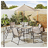 Tesco Hawaii Metal Garden Furniture 8 Piece Set, Cappuccino