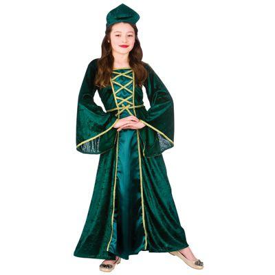 Medieval / Tudor Princess Girls Childrens Fancy Dress Costume Dress & Headpiece-Large 8-10 Years