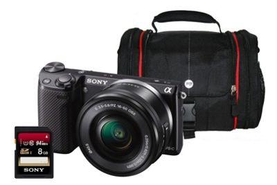 Sony NEX-5RL Black CSC Camera Kit inc 16-50mm Lens, 8GB Class 10 SD Card & Bag