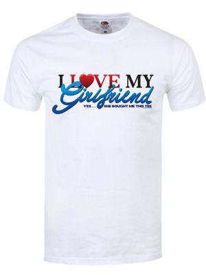 I Love My Girlfriend Men's T-shirt, White