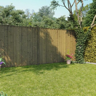 BillyOh 6ft x 6ft Pressure Treated Closeboard Fence Panel - 12 Panels - 72 FT