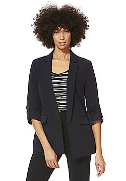 F&F Open Front Girlfriend Blazer - Navy