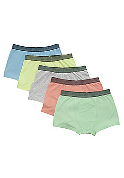 F&F 5 Pack of Neon Trunks with As New Technology - Multi