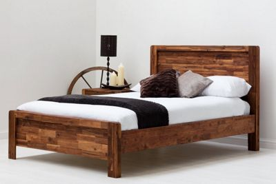 Chester Farmhouse Rustic Style Solid Wooden Double Bed Frame