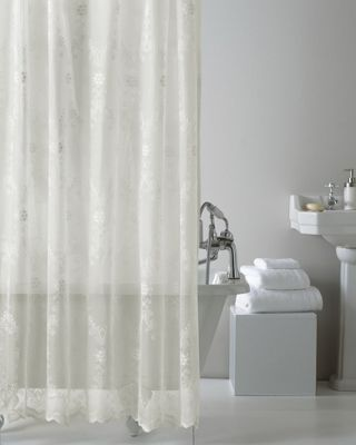 Buy Country Club Lace Shower Curtain Cream From Our Shower Curtains Amp Shower Rails Range Tesco