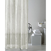 Country Club Lace Shower Curtain, Cream
