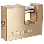Sterling 70mm Brass Block Lock