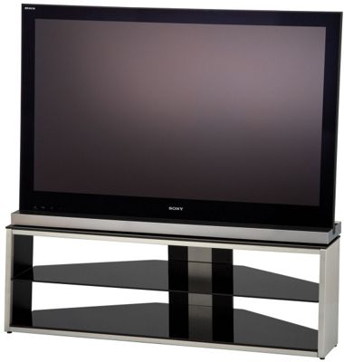 Alphason Tensai Brushed Steel TV Stand For Up To 46 inch