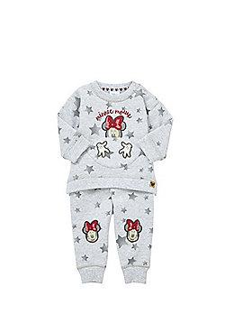 Disney Minnie Mouse Star Print Sweatshirt and Joggers Set - Grey