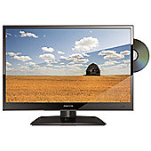 """Manta 15.6"""" inch LED 12v TV With Digital Freeview, Built In DVD Player and USB PVR Recording (Black)"""