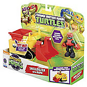 Teenage Muntant Ninja Turtles Half-Shell Heroes Shelldozer Vehicle With Raph Figure