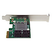 StarTech.com 4 Port PCI Express SATA III 6Gbps RAID Controller Card with Heatsink
