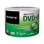 Sony DVD+R 16x 50 recordable storage 50-pack