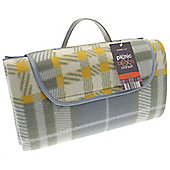 Country Club Family Beach & Picnic Blanket 150 x 200cm, Grey Tartan