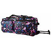 Chervi Black Butterflies Travel Bag with wheels