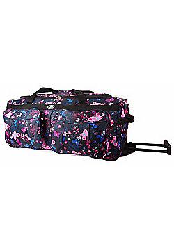 Chervi Black Butterflies Travel Bag with wheels