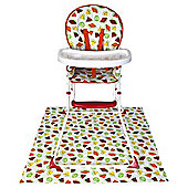Red Kite Feed Me Compact Highchair, Tutti Frutti
