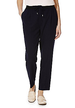 F&F Contrast Waistband Tailored Joggers - Navy & Black