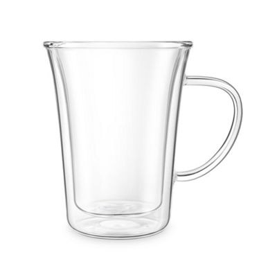 Final Touch 300ml Double-wall Insulated Coffee Glass Mug Ideal for Coffee, Tea CAT8050