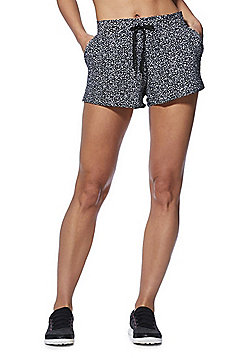 F&F Active Monochrome Running Shorts - Black/White