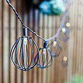 10 Black Balloon Cage Solar LED Fairy Lights