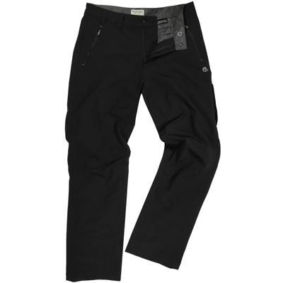 Craghoppers Mens Pro Lite Softshell Trousers Black 36 Regular Leg